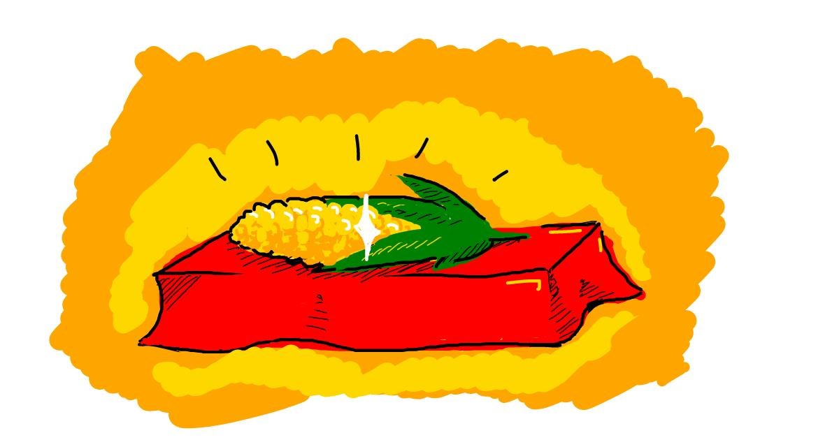 Drawing of Corn by Kossara
