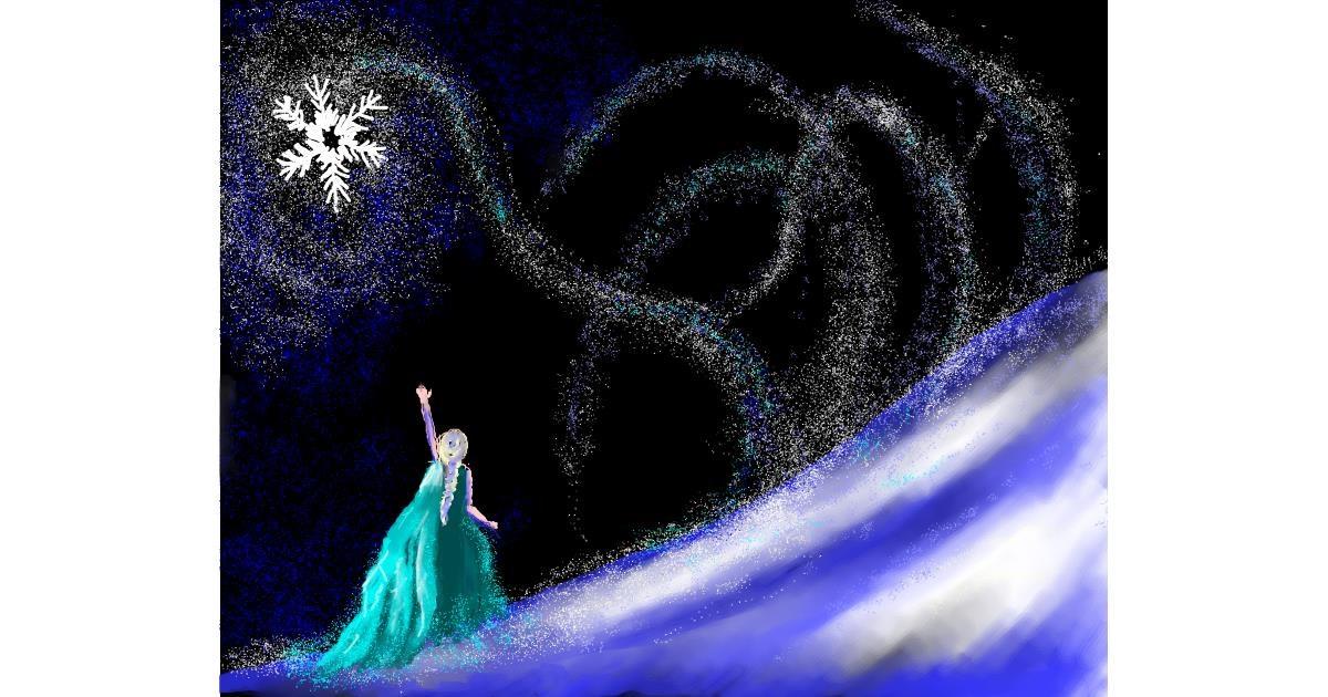 Elsa (Disney) drawing by Cec