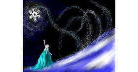 Elsa (Disney) drawing by Cec