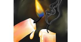 Candle drawing by Freny