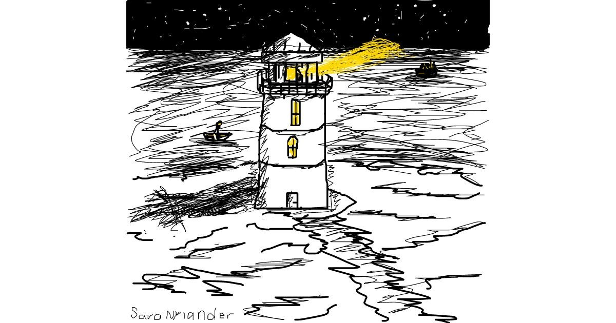 Drawing of Lighthouse by Sara Nylander