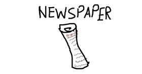 Newspaper drawing by Afnan