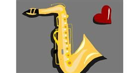 Saxophone drawing by 🌷ROSE 🌷