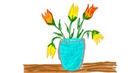 Drawing of Tulips by Lovelybones