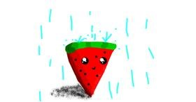 Drawing of Watermelon by Data