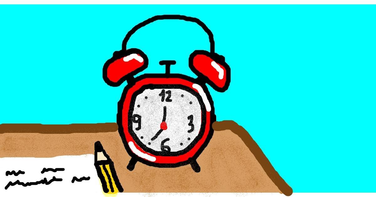 Alarm clock drawing by Balkanski UČIHA