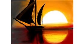 Drawing of Sailboat by Pam