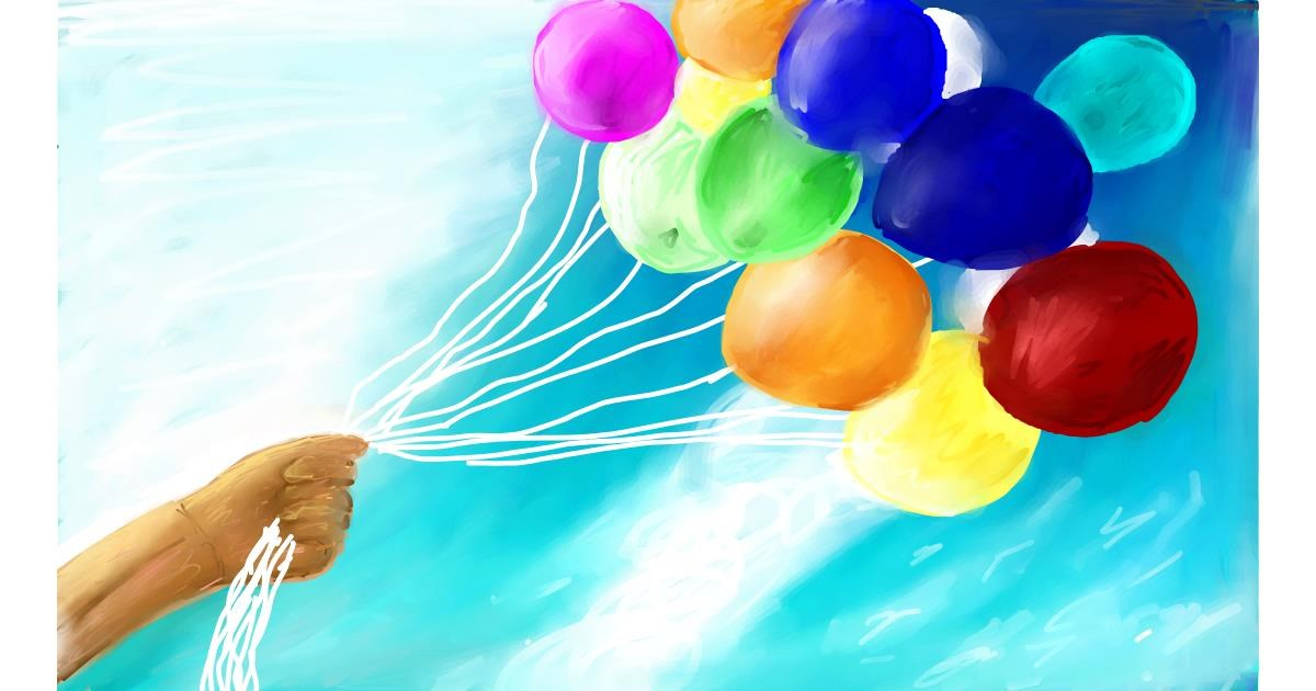 Drawing of Balloon by Soaring Sunshine