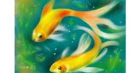 Drawing of Goldfish by Wizard