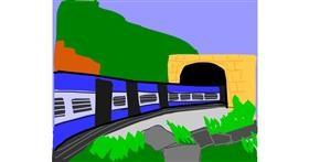 Train drawing by MaRi