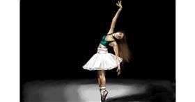 Ballerina drawing by RadiouChka