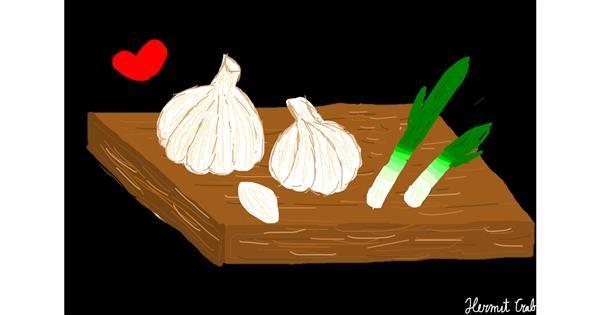 Garlic drawing by Bigoldmanwithglasses