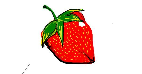 Strawberry drawing by han