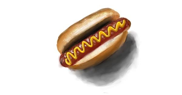 Hotdog drawing by NashNash😎
