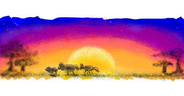 Sheep drawing by 7y3e1l1l0o§