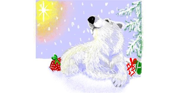 Polar Bear drawing by Geo-Pebbles