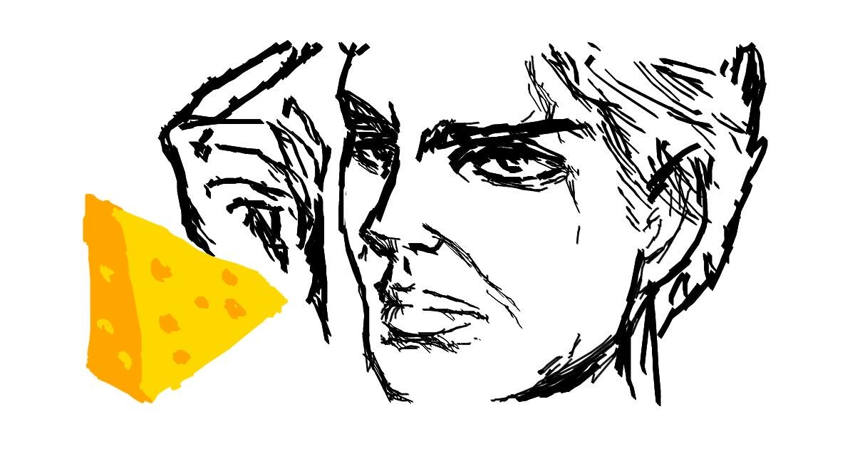 Drawing of Cheese by ZULUL