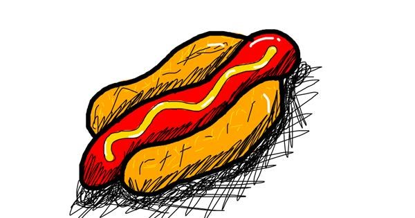 Hotdog drawing by And then i oop