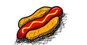 Drawing of Hotdog by And then i oop