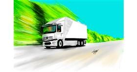 Drawing of Truck by Bibattole