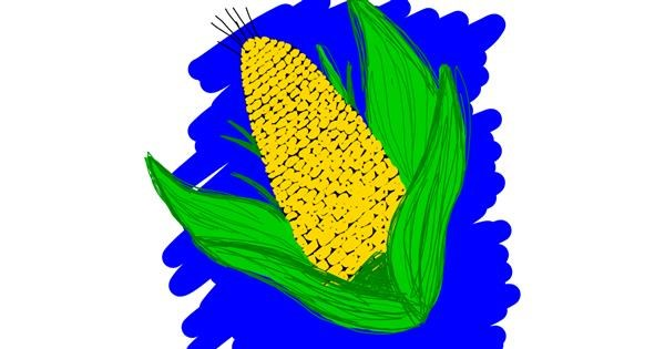 Corn drawing by Laura96