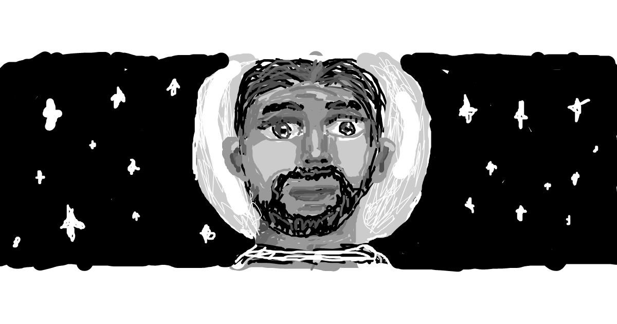 Astronaut drawing by barbiana