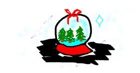 Snowflake drawing by Rosa