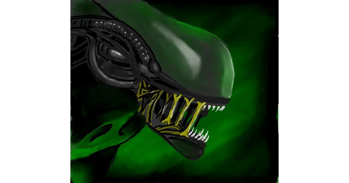 Alien drawing by Joze