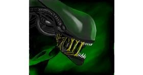 Alien drawing by Joze