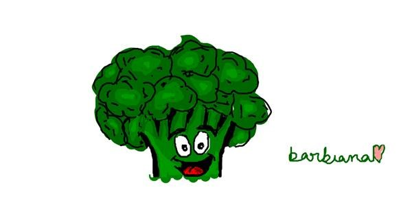 Broccoli drawing by barbiana