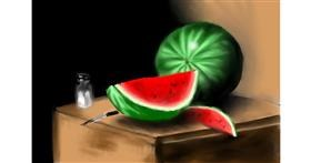 Drawing of Watermelon by Wizard