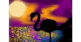 Flamingo drawing by Sirak Fish