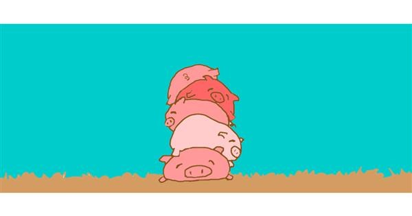 Pig drawing by Trapdoor