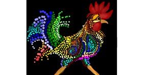 Rooster drawing by Nru