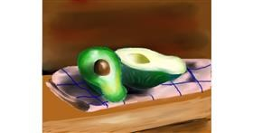 Avocado drawing by Mitzi