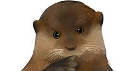 Drawing of Otter by Ryu