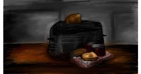 Toaster drawing by Soaring Sunshine