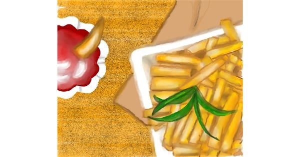 French fries drawing by shelly