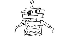 Robot drawing by sophie