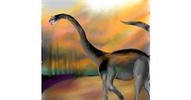 Drawing of Dinosaur by Yashi 🐢