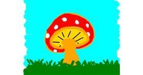 Drawing of Mushroom by Kamie