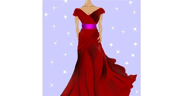 Dress drawing by Namie