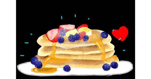 Pancakes drawing by Redd_Pandaii
