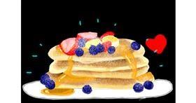 Pancakes drawing by Redd_Pandaii