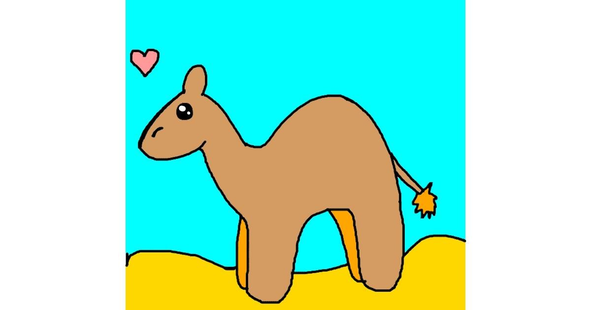 Drawing of Camel by AdiCat