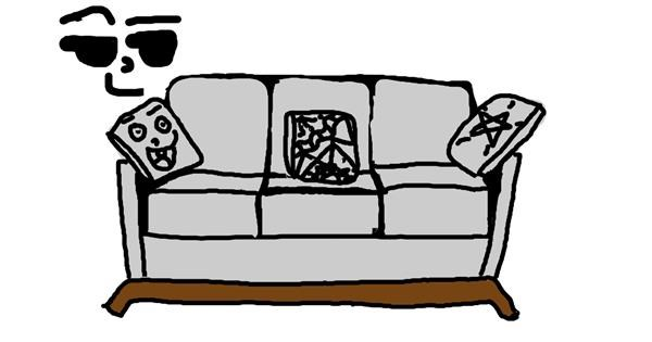 Couch drawing by Agithur
