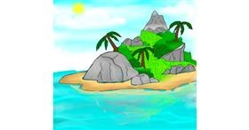 Drawing of Island by Shalinee