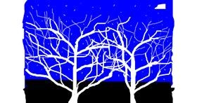 Tree drawing by Anonymous