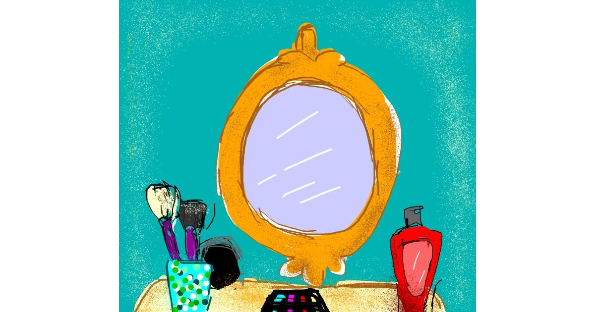 Mirror drawing by Melocotón