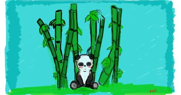 Panda drawing by Obnoxious But Consistent